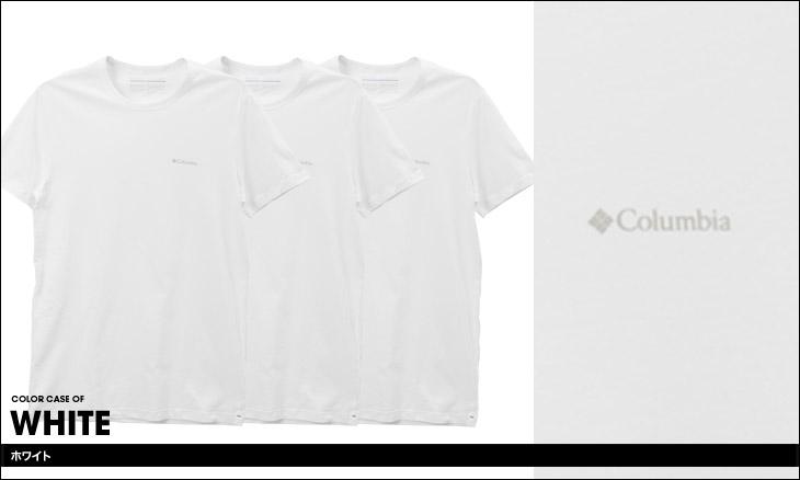 Columbia コロンビア 【3枚組セット】コットン100% メンズ 半袖 クルーネック Tシャツ カラー画像