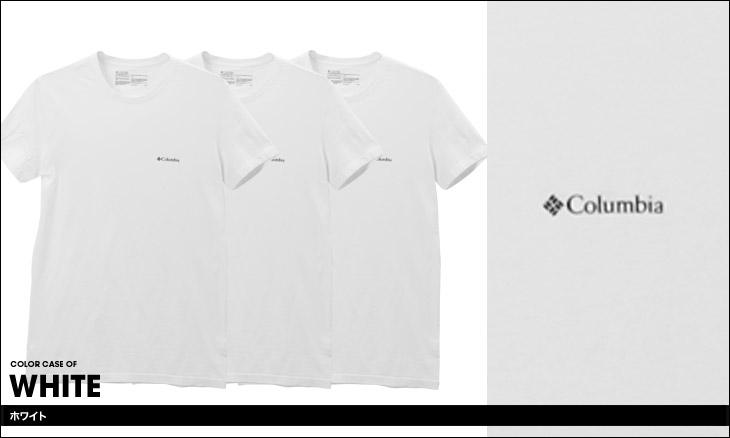 Columbia コロンビア 【3枚組セット】コットンストレッチ メンズ 半袖 クルーネック Tシャツ カラー画像