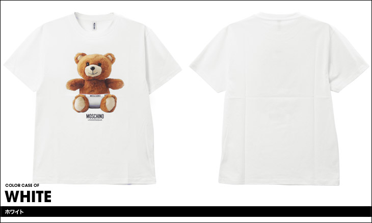 MOSCHINO モスキーノ TEDDYBEAR メンズ 半袖 クルーネック Tシャツ カラー画像