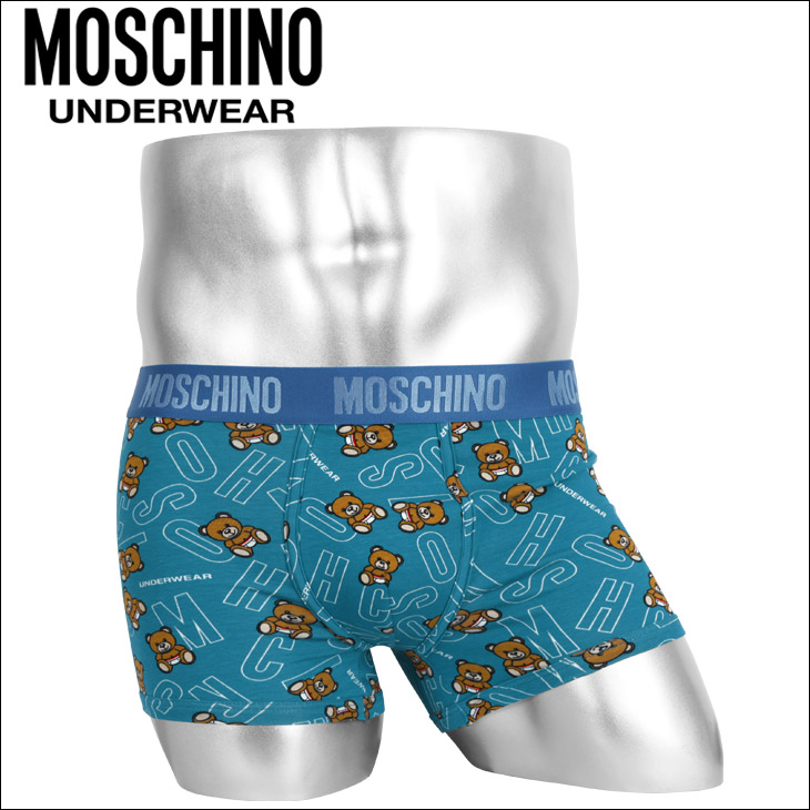 MOSCHINO モスキーノ Teddy Print メンズ ボクサーパンツ メイン画像