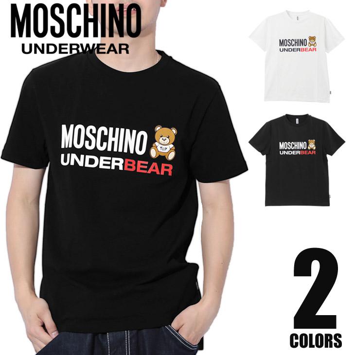 MOSCHINO モスキーノ UNDERBEAR メンズ 半袖 クルーネック Tシャツ メイン画像