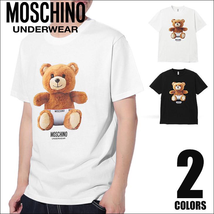 MOSCHINO モスキーノ TEDDYBEAR メンズ 半袖 クルーネック Tシャツ メイン画像