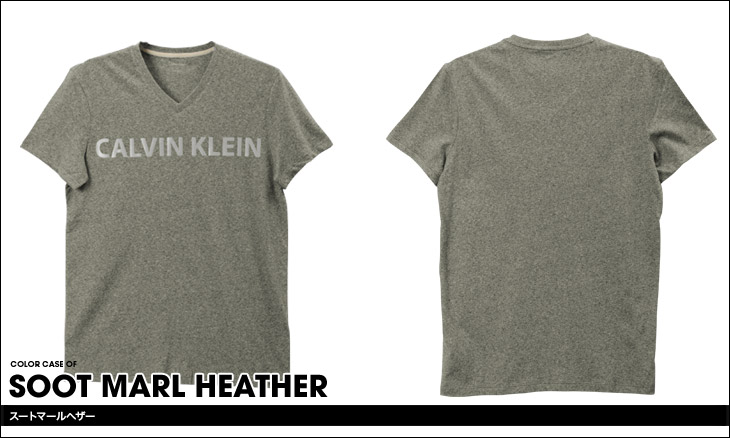Calvin Klein カルバンクライン Reflective Chest Logo メンズ Vネック 半袖 Tシャツ カラー画像