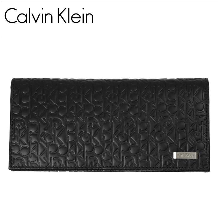 Calvin Klein カルバンクライン ロゴ型押し メンズ 長財布 メイン画像