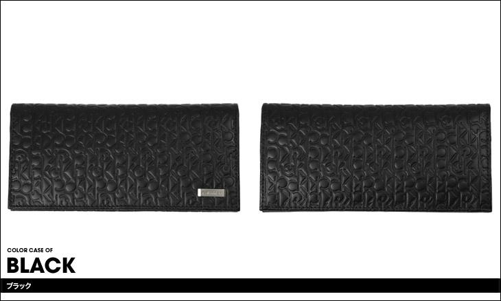Calvin Klein カルバンクライン ロゴ型押し メンズ 長財布 カラー画像