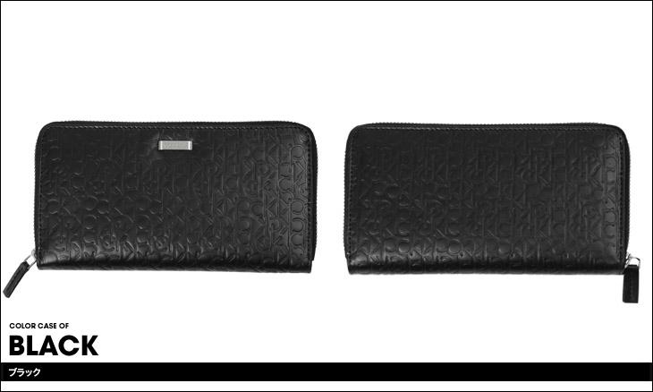 Calvin Klein カルバンクライン ロゴ型押し ラウンドファスナー 長財布 カラー画像