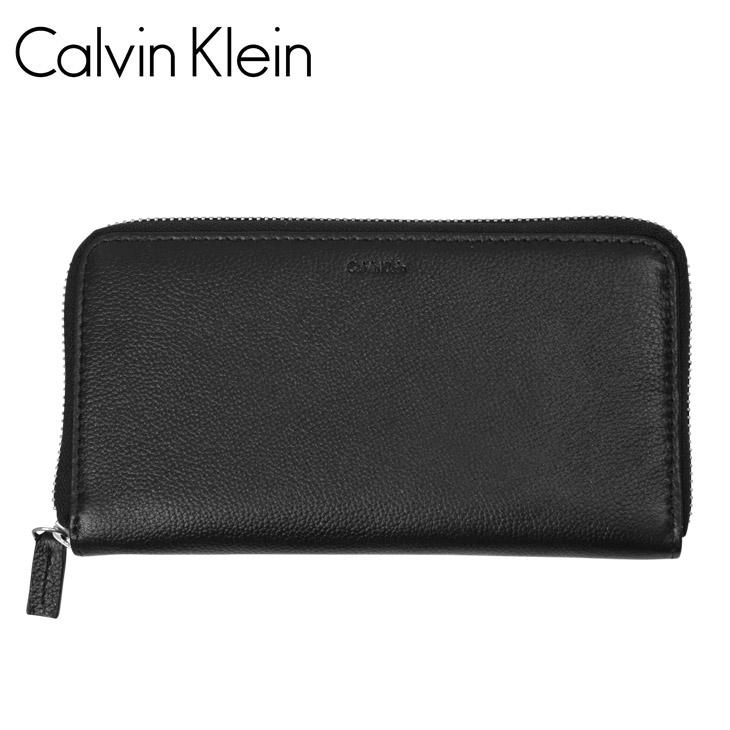 Calvin Klein カルバンクライン エンボス メンズ ラウンドファスナー長財布 メイン画像
