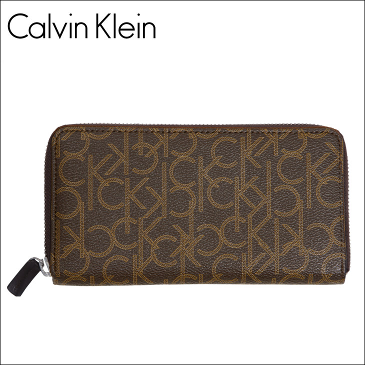 Calvin Klein カルバンクライン Monogram メンズ ラウンドファスナー 長財布 メイン画像