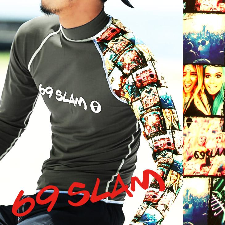 69SLAM ロックスラム FESTIVAL メンズ ラッシュガード メイン画像