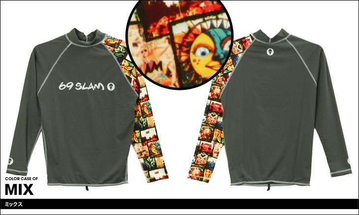69SLAM ロックスラム FESTIVAL メンズ ラッシュガード カラー画像