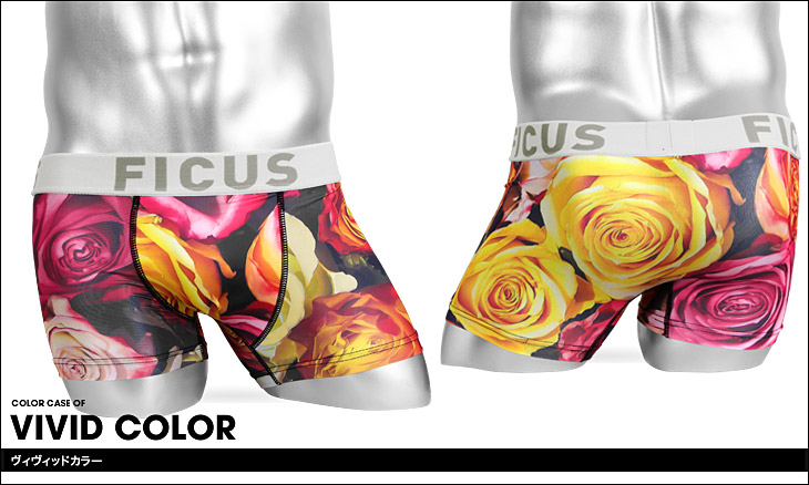 FICUS フィークス Roses Pictures メンズ ボクサーパンツ カラー画像