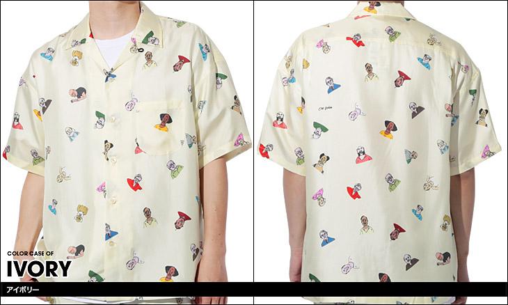 OVER THE TWELVE オーバーザトゥエルブ OttWorks オールドマンプリント メンズ 半袖シャツ カラー画像