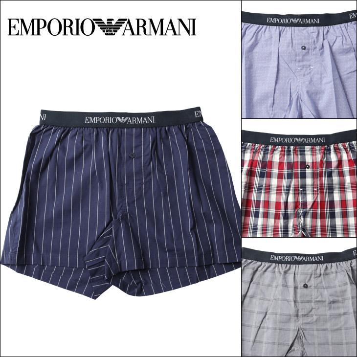EMPORIO ARMANI エンポリオアルマーニ YARN DYED WOVEN メンズ トランクス メイン画像