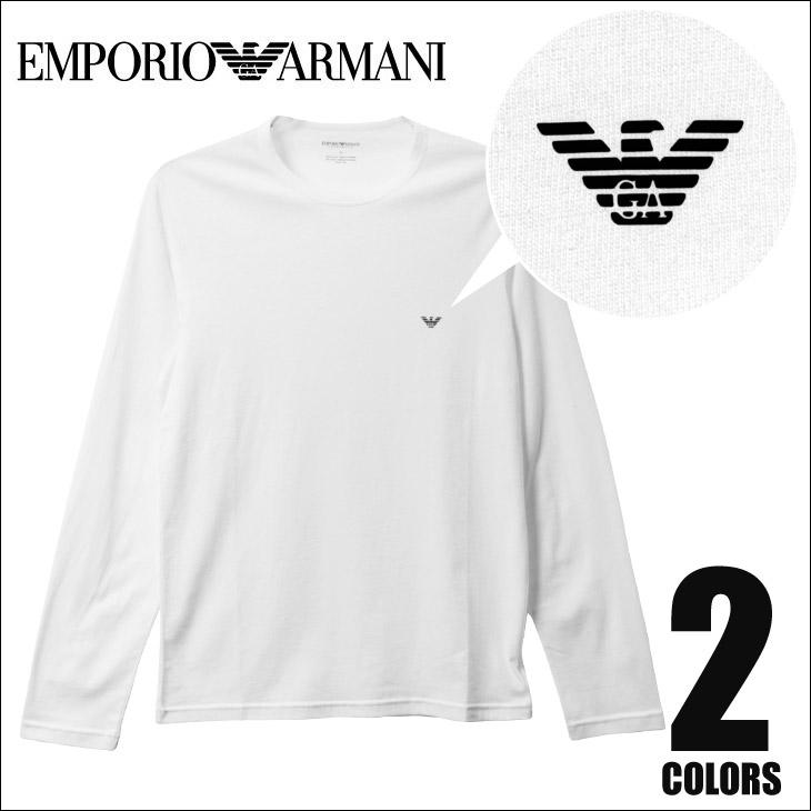 EMPORIO ARMANI エンポリオアルマーニ SIMPLE LOGO クルーネック 長袖 ロンT メイン画像