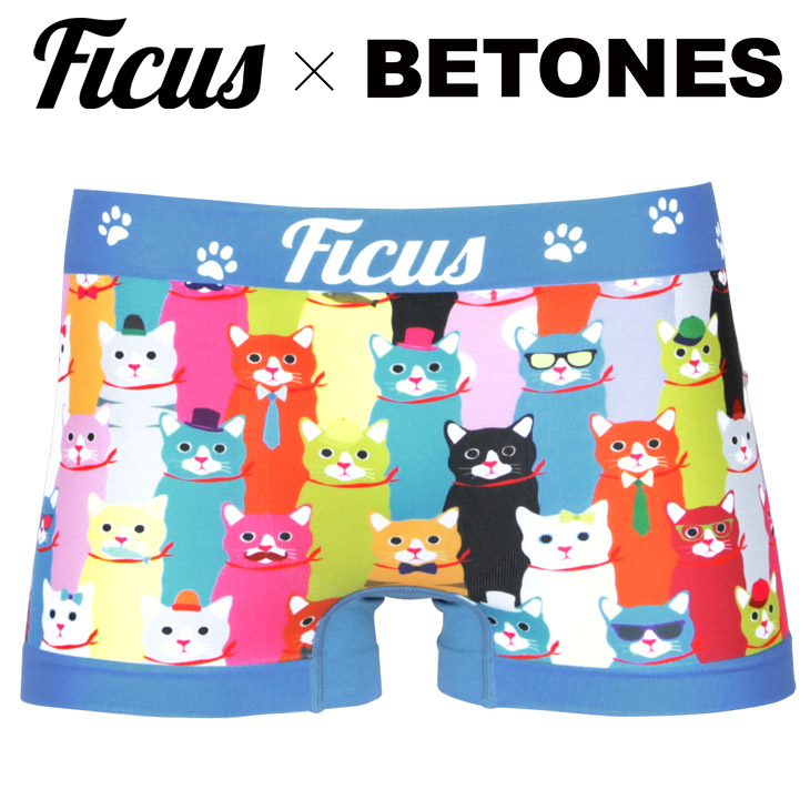 BETONES ビトーンズ FICUS×BETONES NYAN's メンズ ボクサーパンツ メイン画像