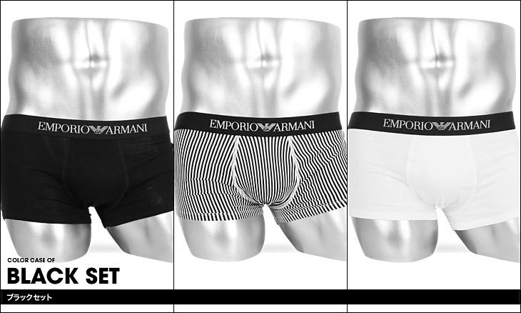 EMPORIO ARMANI エンポリオアルマーニ 【3枚組セット】PURE COTTON MULTIPACK メンズ ローライズボクサーパンツ カラー画像