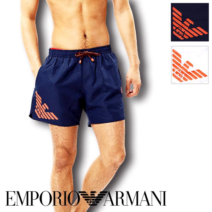 EMPORIO ARMANI エンポリオアルマーニ SEAWORLD BW FLUO EAGLE M BOXER サーフパンツ メイン画像