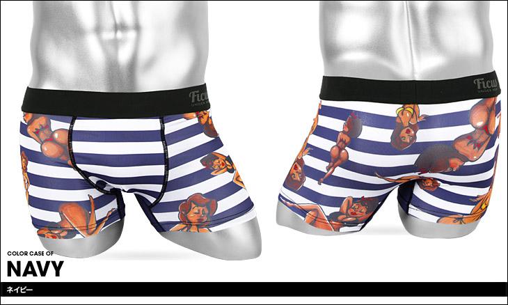 FICUS フィークス Girls Border ボクサーパンツ カラー画像