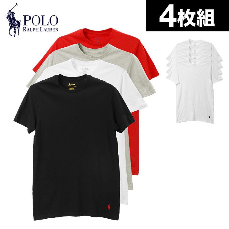 POLO RALPH LAUREN ポロ ラルフローレン 【4枚組セット】LHCNP4 メンズ クルーネック 半袖 Tシャツ メイン画像