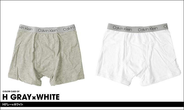 Calvin Klein カルバンクライン 【2枚組】BOYS CORE CLASSIC キッズ ボーイズ ボクサーパンツ カラー画像