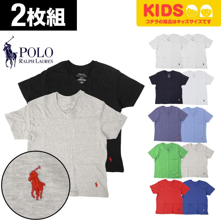 POLO RALPH LAUREN ポロ ラルフローレン 【2枚組】 boy's Vネック キッズ ボーイズ ジュニア Tシャツ メイン画像