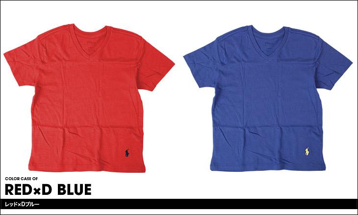 POLO RALPH LAUREN ポロ ラルフローレン 【2枚組】 boy's Vネック キッズ ボーイズ ジュニア Tシャツ カラー画像