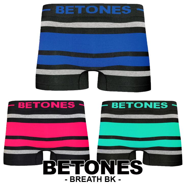 BETONES ビトーンズ BREATH BLACK メンズ ボクサーパンツ メイン画像