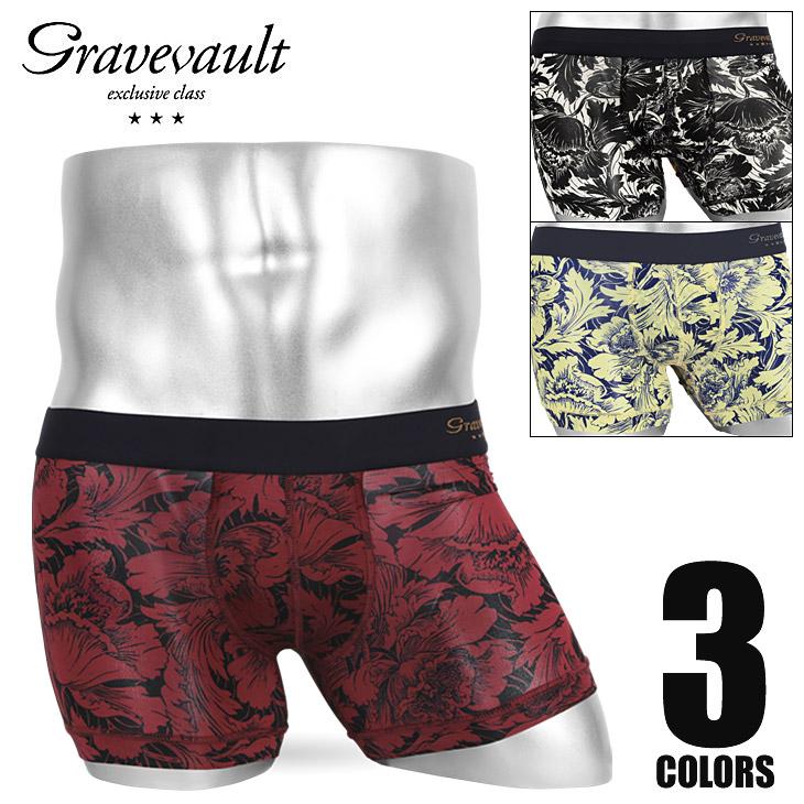 Gravevault グレイブボールト FLOWER メンズ ショート ボクサーパンツ メイン画像