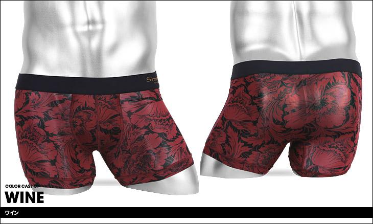 Gravevault グレイブボールト FLOWER メンズ ショート ボクサーパンツ カラー画像