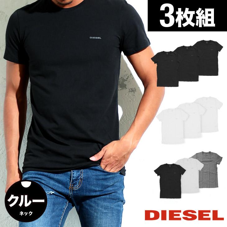 DIESEL ディーゼル Essentials 3枚組 メンズ クルーネック 半袖 Tシャツ メイン画像