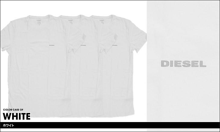 DIESEL ディーゼル Essentials 3枚組 メンズ クルーネック 半袖 Tシャツ カラー画像