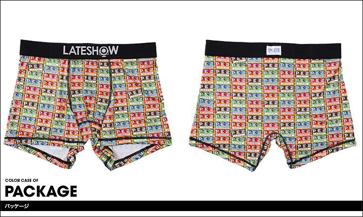 LATESHOW レイトショー PEZ×LATESHOW ボクサーパンツ カラー画像
