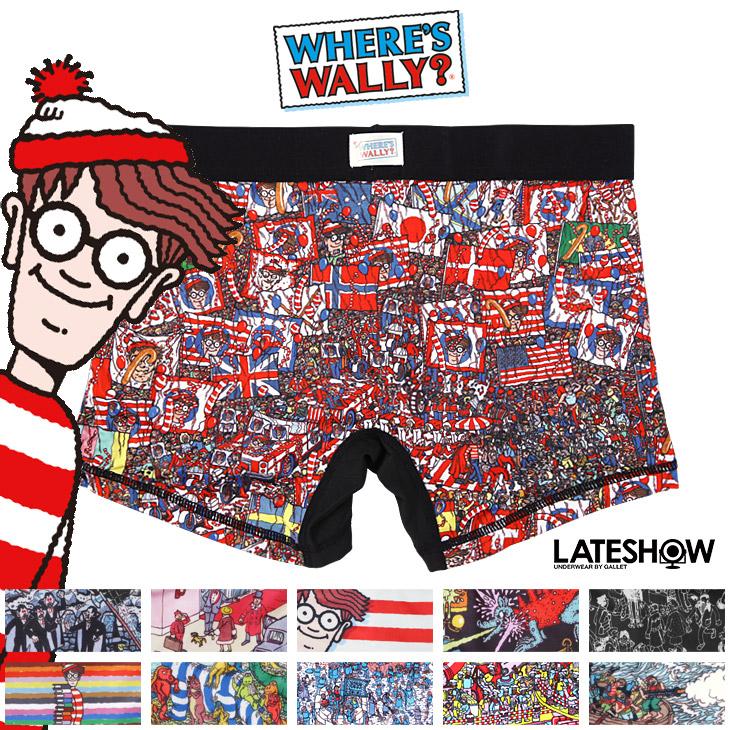 LATESHOW レイトショー ウォーリーを探せ×LATESHOW ボクサーパンツ メイン画像