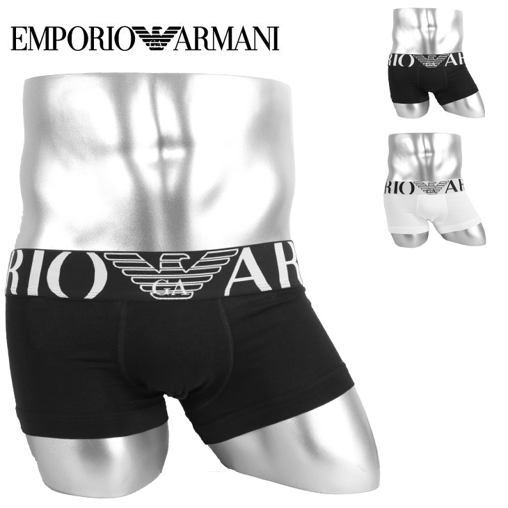 EMPORIO ARMANI エンポリオアルマーニ STRETCH COTTON TRUNK  メンズ ローライズ ボクサーパンツ メイン画像