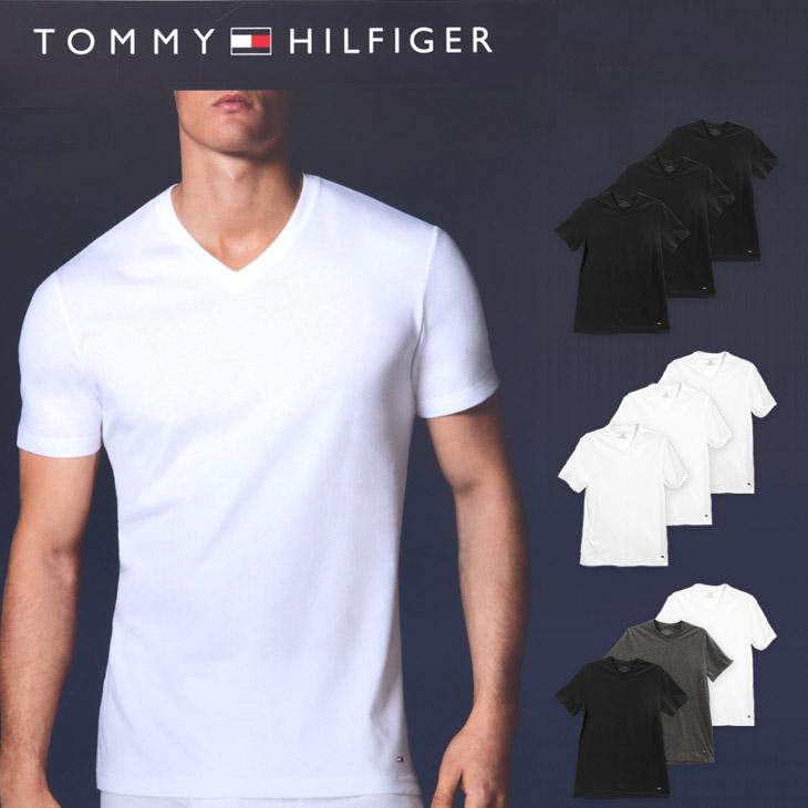 TOMMY HILFIGER トミー ヒルフィガー Classic Fit メンズ Vネック 半袖 Tシャツ メイン画像