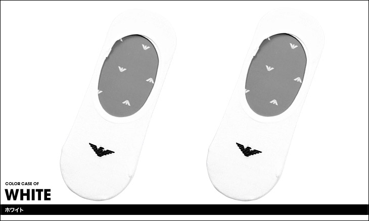 EMPORIO ARMANI エンポリオアルマーニ CALZA INSIDE  INVISIBLE 2PACK メンズ ソックス カラー画像