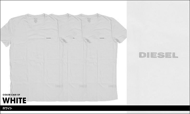 DIESEL ディーゼル Essentials 3枚組 メンズ Vネック 半袖 Tシャツ カラー画像