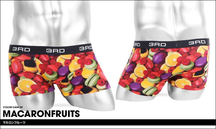 3RDWARE サードウェア macaronfruits メンズ ローライズボクサーパンツ カラー画像