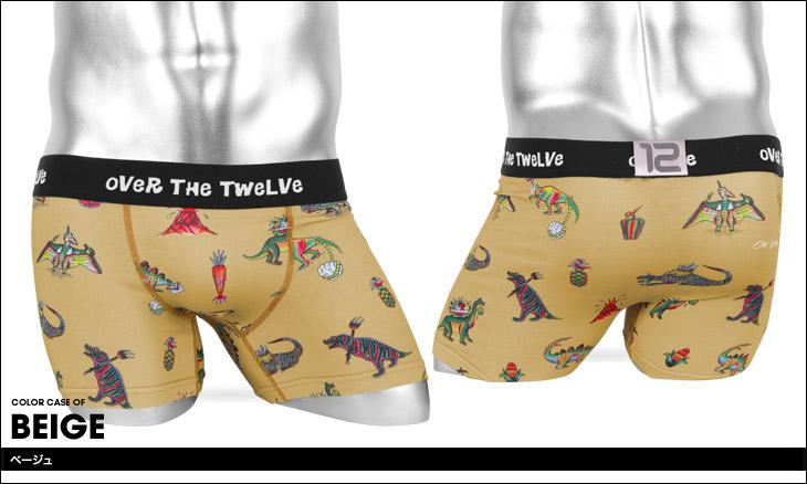 OVER THE TWELVE オーバーザトゥエルブ Working Dinosaurs柄 MICRO メンズ ボクサーパンツ カラー画像