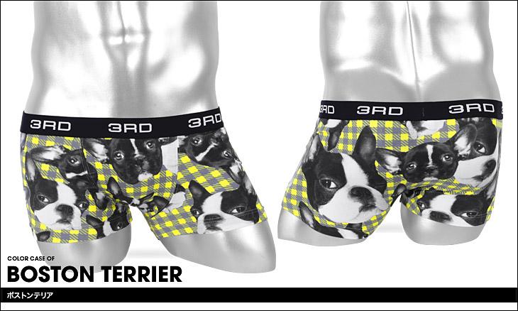 3RDWARE サードウェア Boston Terriers メンズ ボクサーパンツ カラー画像