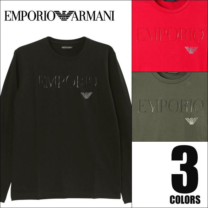 EMPORIO ARMANI エンポリオアルマーニ HIGH LOGO BAND メンズ ロンT メイン画像