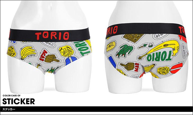 TORIO トリオ ステッカー レディース ショーツ カラー画像