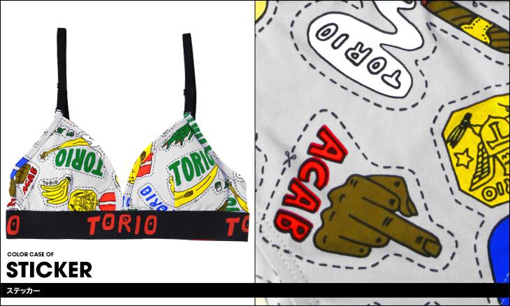 TORIO トリオ ステッカー レディース スポーツブラ カラー画像