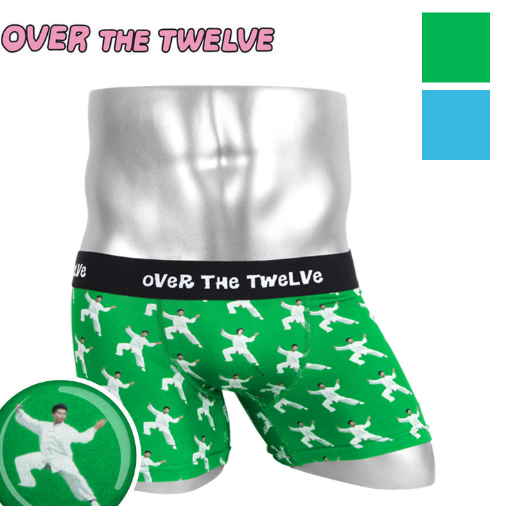 OVER THE TWELVE オーバーザトゥエルブ インクジェットプリント Tai Chi柄MICRO メンズ ボクサーパンツ メイン画像