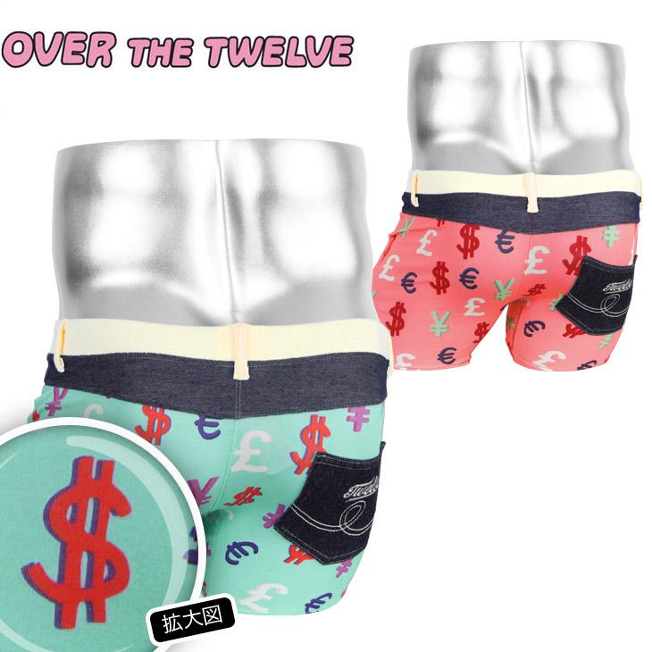 OVER THE TWELVE オーバーザトゥエルブ インクジェットプリント MONEY柄 ポケット付MICRO メンズ ボクサーパンツ メイン画像