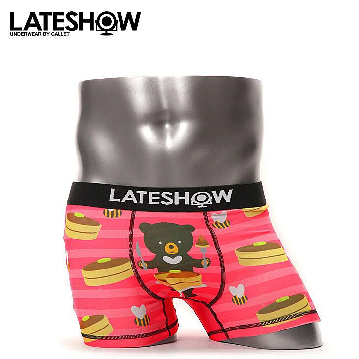 LATESHOW レイトショー BEAR,BEE&PANCAKE ボクサーパンツ メイン画像