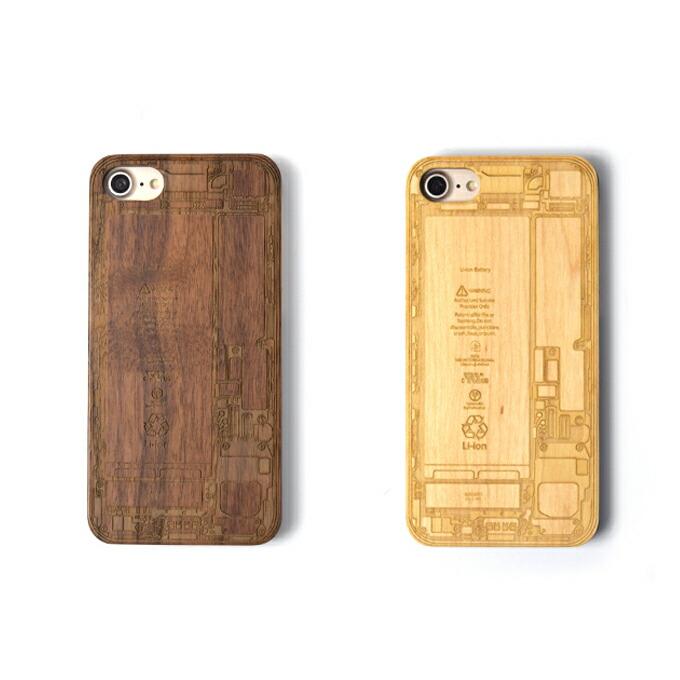 iPhone7 木製iPhoneケース■基盤デザインレーザー加工 木製ケースiPhone7専用ハードケース 天然木材 iPhoneケース スマホケース ナチュラル ウッド 自然