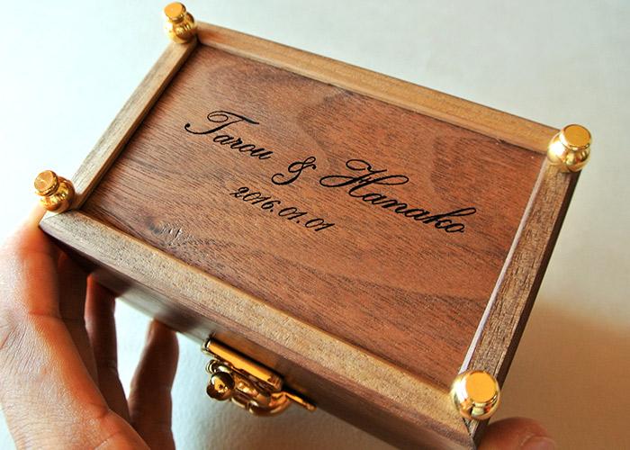 木製リングケース