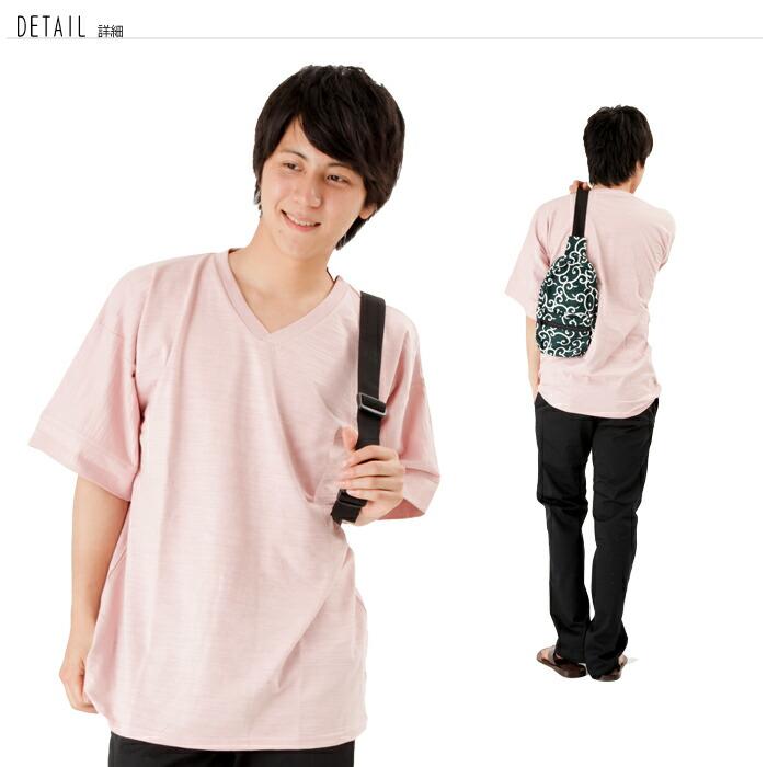 和柄,Tシャツ,メンズ,レディース,トップス,和風,無地,半袖,Tシャツ,Vネック,なごみ,五分袖,Tシャツ,つむぎ天竺,着物風,豊天商店,ぶーでんしょうてん