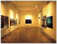 珪藻土壁 美術館